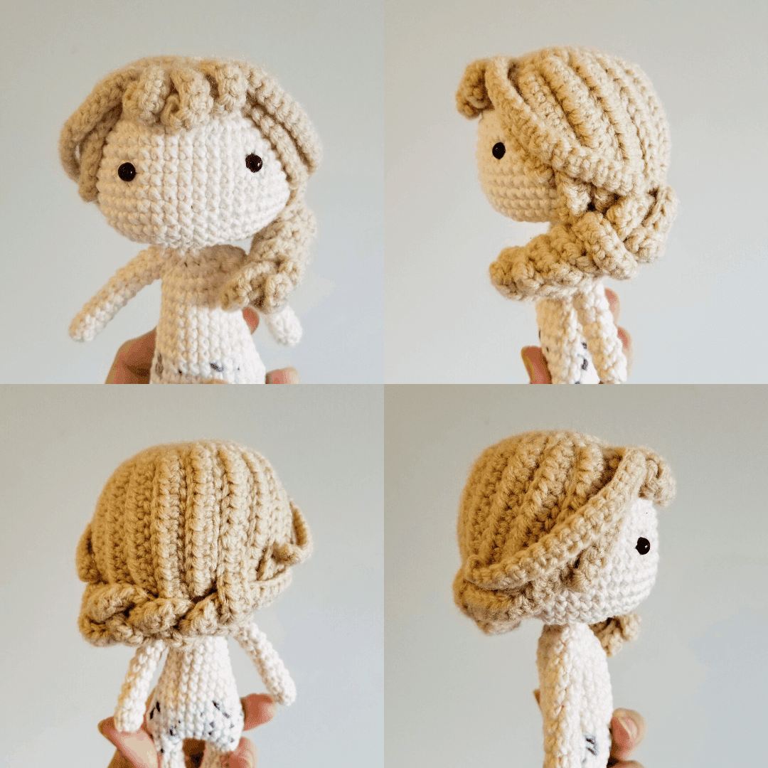 How to Crochet Curly Doll Hair - YouTube | 1080x1080