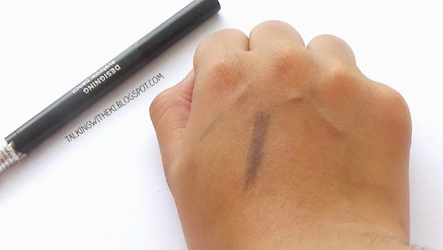 review the faceshop designing eyebrow swatches