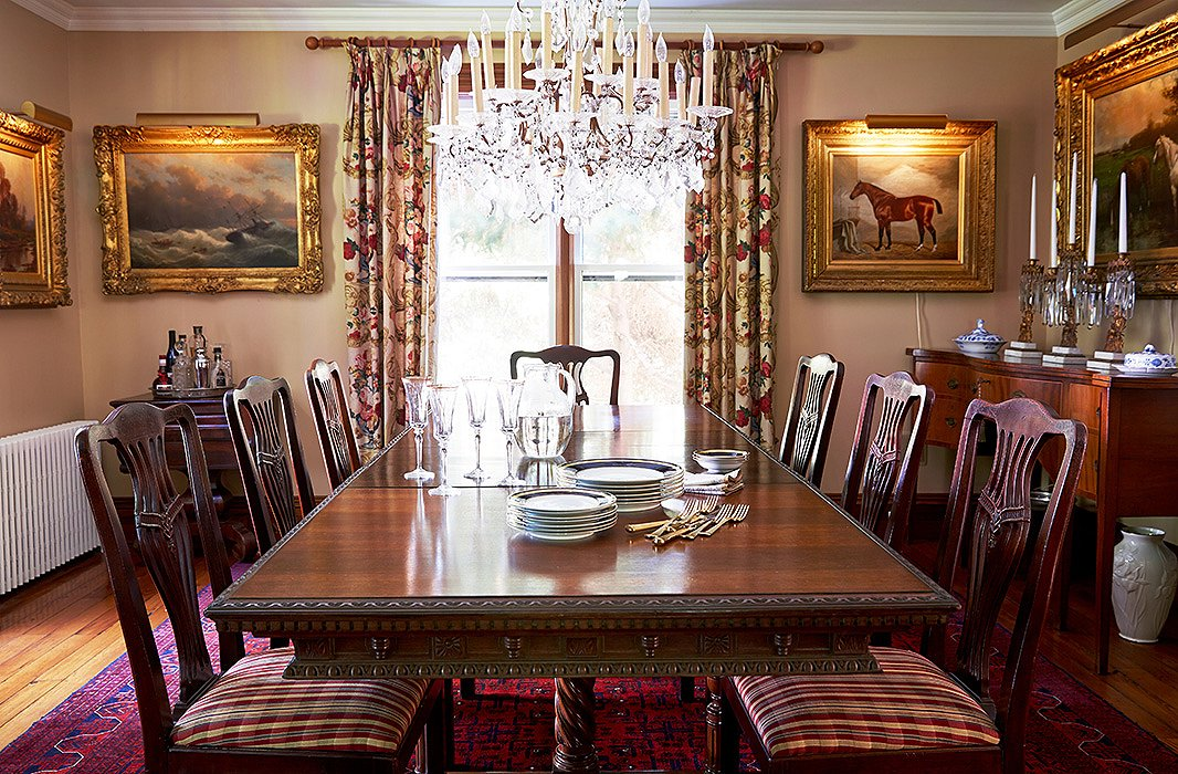 In Warm Tones And Textures From The Edwardian Dining Table To Persian Rug Chairs Upholstered A Ralph Lauren Tartan 19th Century