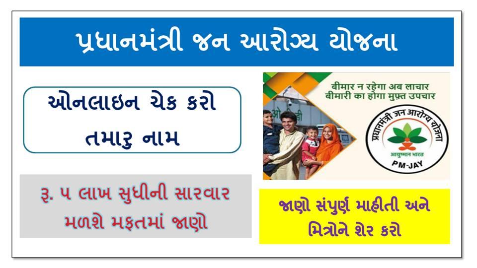 Check Your Name In The Ayushman Bharat Pradhan Mantri Jan Arogya Yojana @pmjay.gov.in