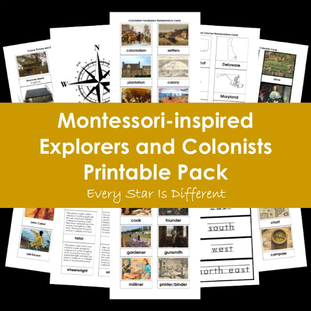 Montessori-inspired Explorers and Colonists Printable Pack