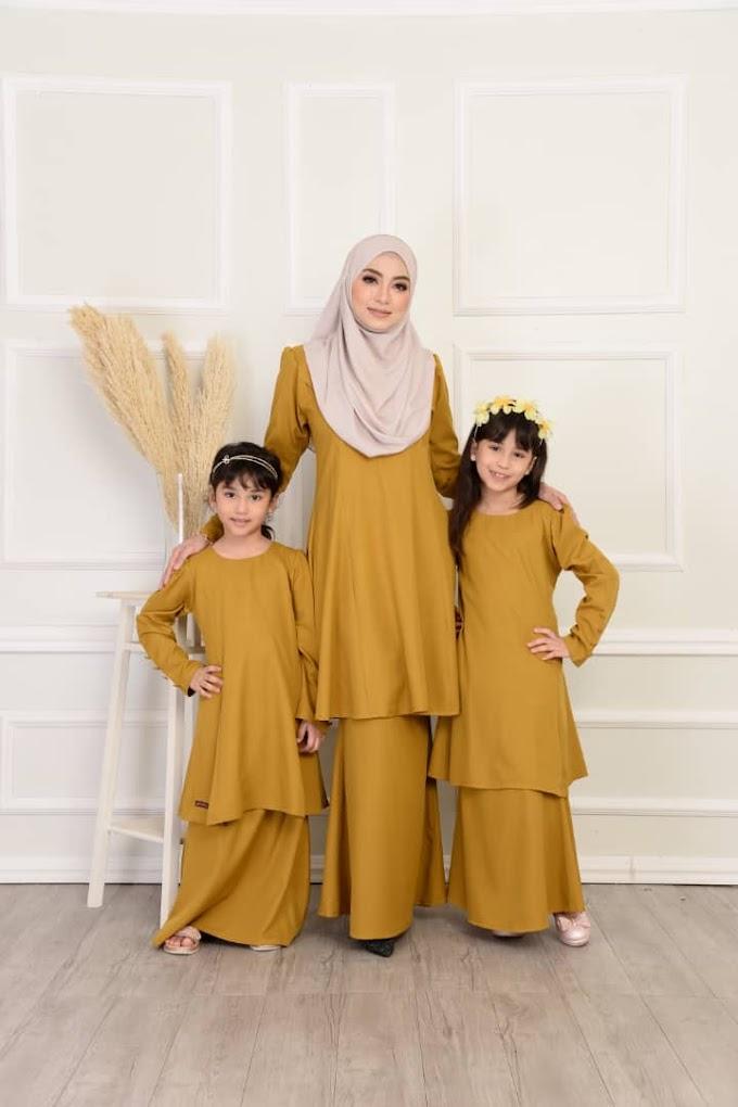 Baju Sedondon Raya 2021 ~ Kurung Jasmine (sedondon ibu & anak)