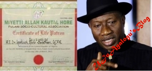 Presidency reveals Jonathan is life patron of Miyetti Allah, releases evidence