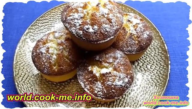 Видео рецепт приготовления кексов из творога в духовке