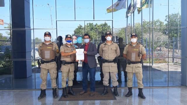Comando do 9º BPM realiza visita institucional ao promotor de Justiça de Augustinópolis