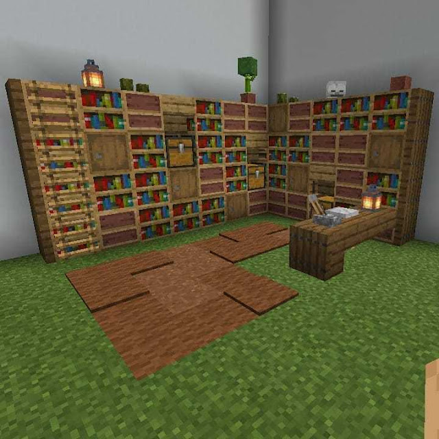 Cool Minecraft Library Designs And Ideas | Patchescrafts