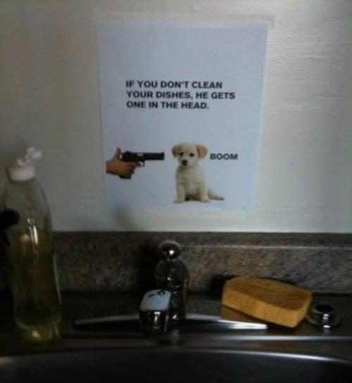 Birdneto: 25 Hilarious Passive Aggressive Roommate Notes