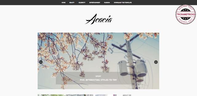 Acacia Premium Blogger Template