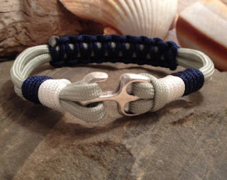 rope bracelet with anchor clasp