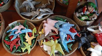 cestos com várias andorinhas em cerâmica