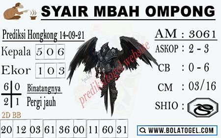 Syair Mbah Ompong HK Selasa 14-09-2021
