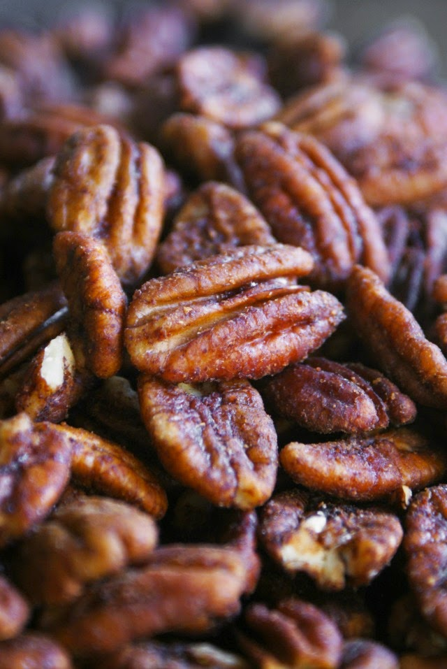 These Savory Spiced Nuts are the perfect snack with a kick, made by baking crunchy nuts that are seasoned with cayenne, cumin and other savory spices.
