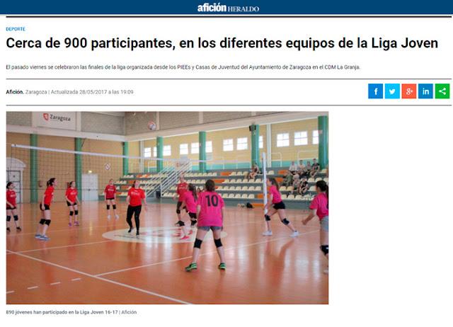 NOTICIA AFICCIÓN HERALDO: Cerca de 900 participantes en los diferentes equipos de la Liga Joven