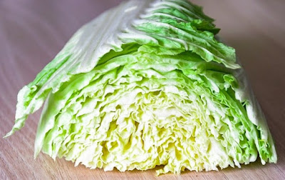 half a head of white cabbage