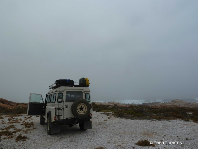 Travel South Africa. Vast and unspoilt coast line - Trip to Namaqualand. Camping, Mist