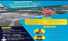 Pertama di Sidrap, Besok Akan Dilaksanakan Pelatihan Sistem Bioflok Budidaya Ikan Nila