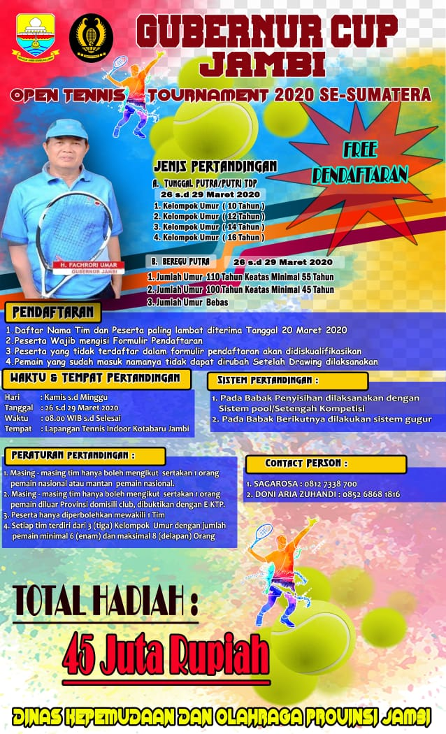 GUBERNUR CUP JAMBI OPEN TENNIS TOURNAMENT 2020