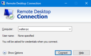 Remote Desktop Connection in Windows 7