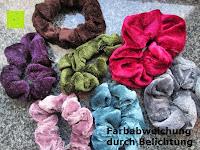 Lieferumfang: Haargummi aus Velveteen, gemischte Farben, 25mm breit, 7 Stücke/Packung
