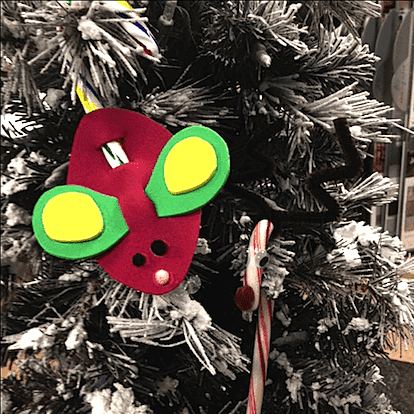 Cute mouse ornament for kids to make for Christmas