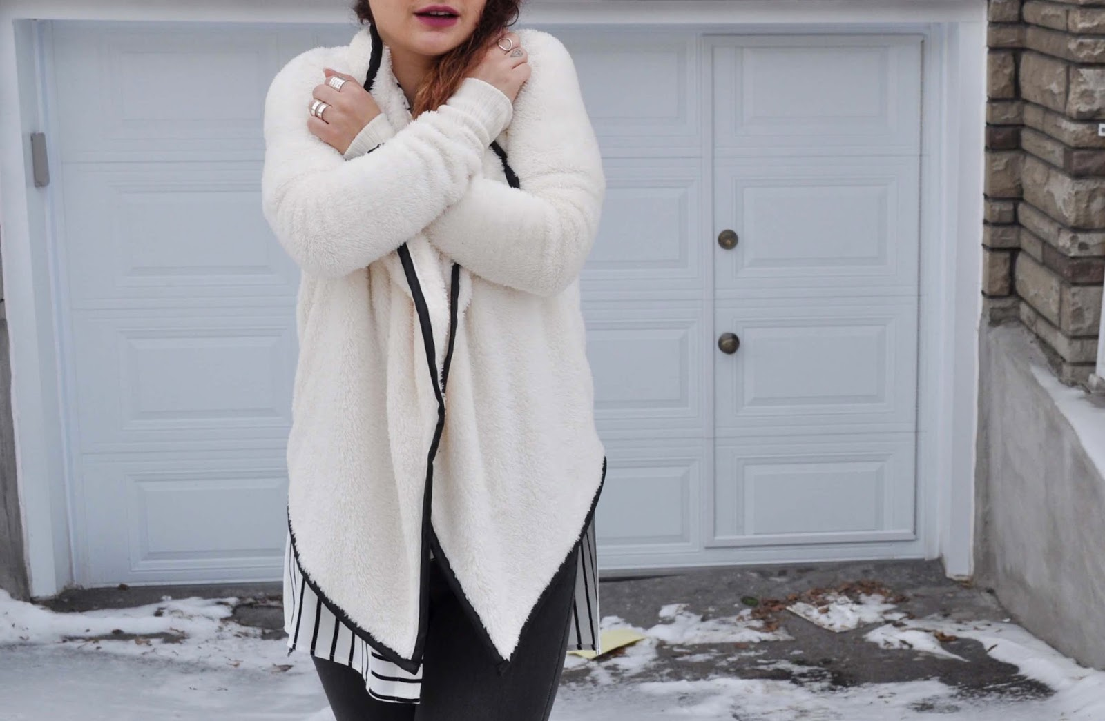 Outfit black and white basic