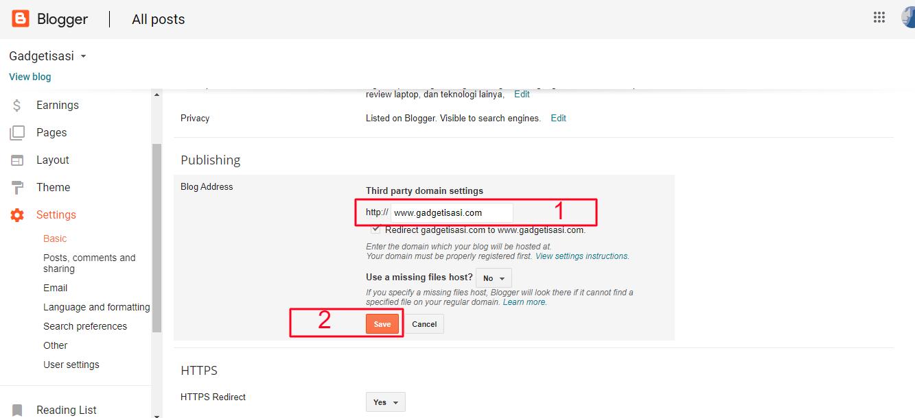 tahapan memasang cloudflare di blog2
