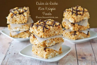 Dulce de Leche Rice Krispie Treats - The Sweet Chick