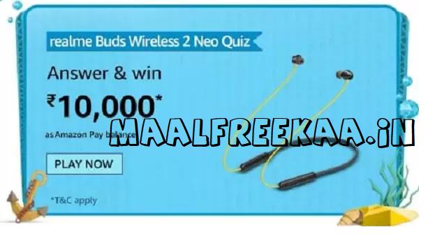 amaon realme buds wireless 2 neo contest win prizes