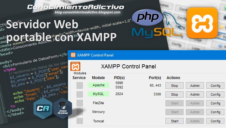 Cómo montar un Servidor Web portable con XAMPP para realizar pruebas de desarrollo