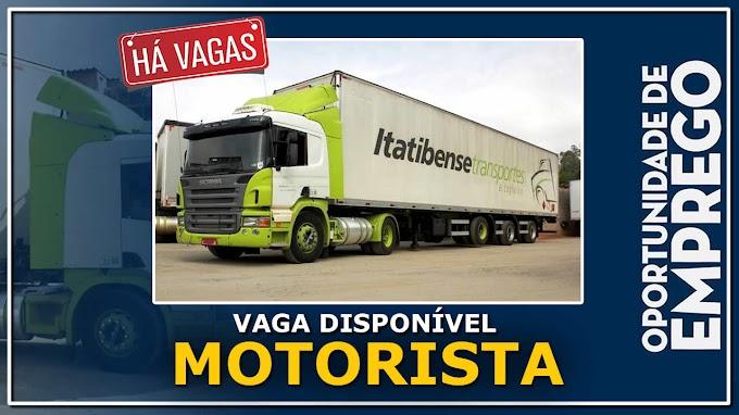 Transportadora Itatibense abre vagas para Motorista