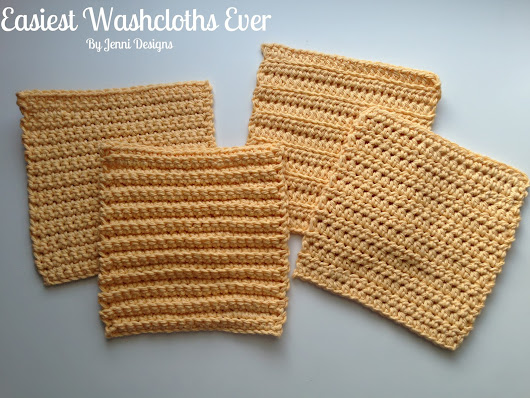 Free Crochet Pattern: Easiest Washcloths Ever