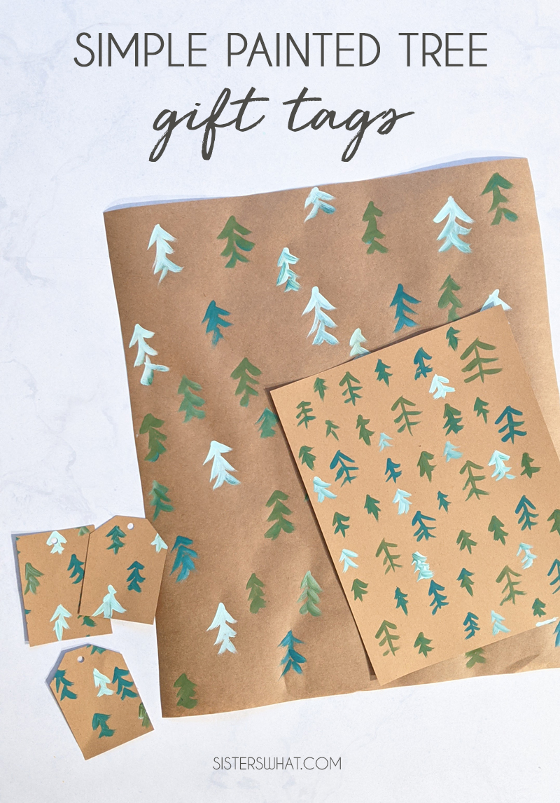 modern tree gift tags diy