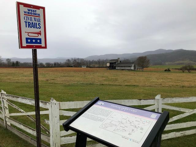 Civil War battlefield marker