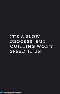 It's A Slow  Process, But  Quitting Won't  Speed It Up..!!  #Inspirationalquotes #motivationalquotes  #quotes