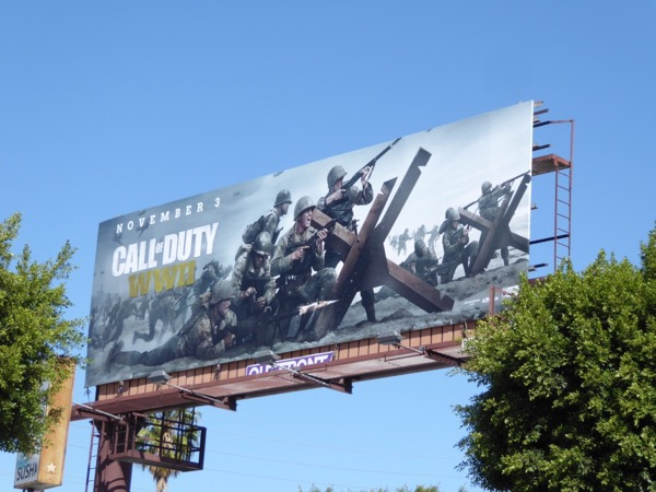 Call of Duty WWII game billboard