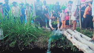 Sinergi Polda dan Polres Lobar, Tebar Benih Ikan Kawal Ketahanan Pangan