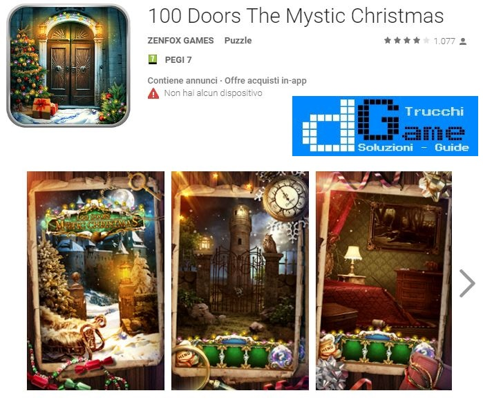 Soluzioni 100 Doors The Mystic Christmas livello 71 72 73 74 75 76 77 78 79 80 | Trucchi e Walkthrough level