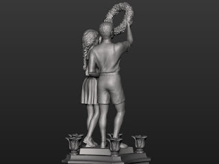 Sculptural composition of the upper pair - Boy and Girl - 2