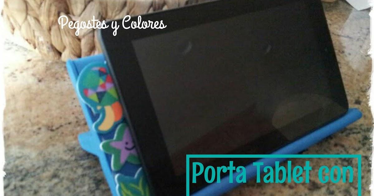 Pegostes y colores porta tablet con carton y foamy - Porta tablet ikea ...