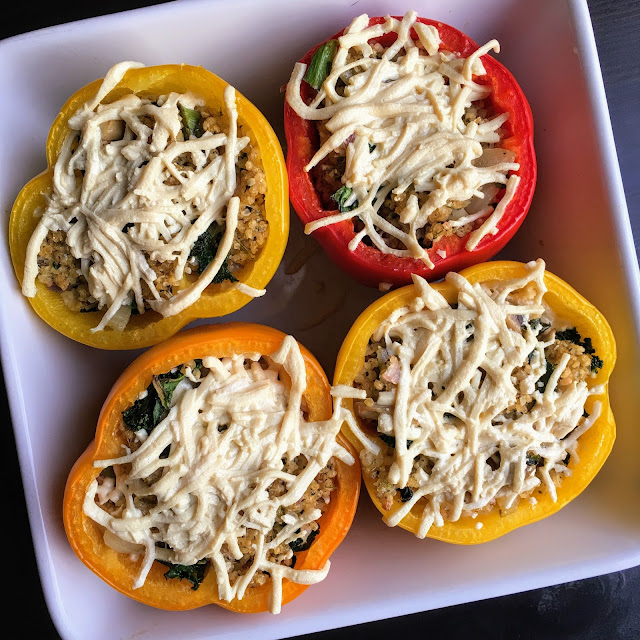 Vegan Stuffing Stuffed Peppers