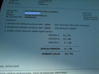 Image result for contoh sijil ujian kpp