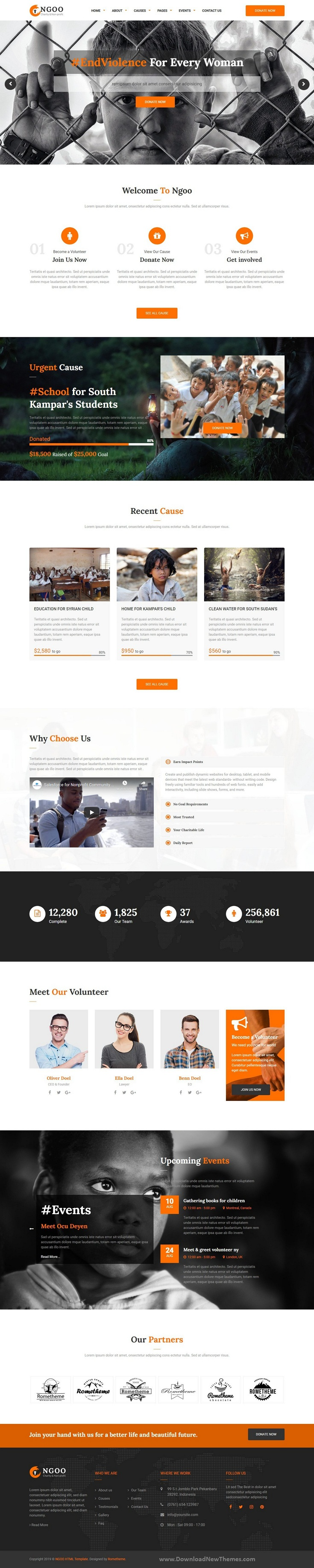 Charity, Non-profit, and Fundraising Website Template