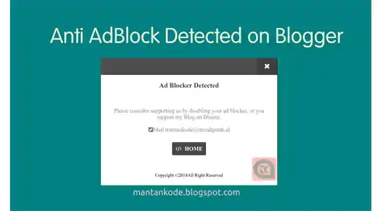 Cara Membuat Anti Adblock dengan fitur close