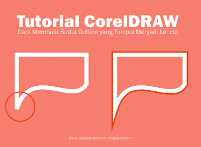 Cara Membuat Sudut Outline yang Tumpul Menjadi Lancip dengan Miter Limit di CorelDRAW  - tutorial coreldraw untuk pemula, belajar coreldraw untuk pemula, cara membuat sudut objek yang tumpul menjadi lancip, komunitas pengguna coreldraw indonesia, mengubah efek contour yang tumpul menjadi lancip, cara mengatasi sudut outline yang tumpul menjadi lancip.