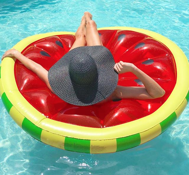 large watermelon float