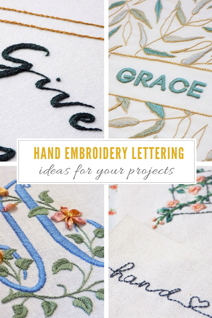 Best Embroidery Stitch For Letters : embroidery, stitch, letters, Embroidery, Lettering, Ideas, Stitch, Floral