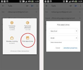 cara membuat email terjadwal di gmail