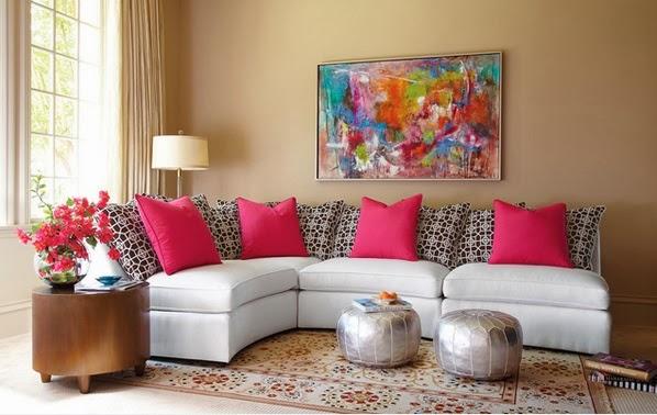 jolies salons d corations en rose d coration salon d cor de salon. Black Bedroom Furniture Sets. Home Design Ideas