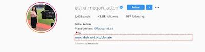 Eisha Megan Instagram
