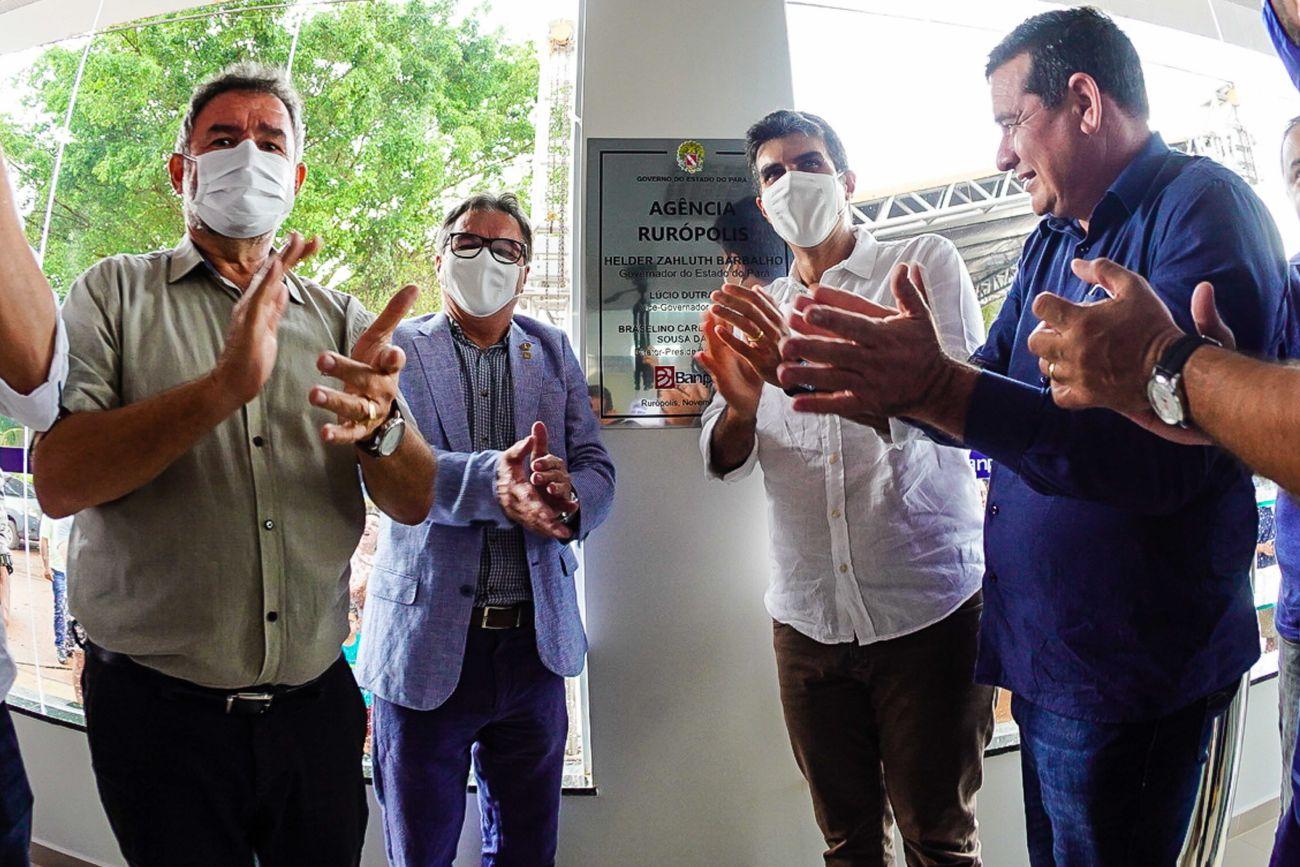 Helder inaugura em Rurópolis a 128ª agência do Banpará no estado